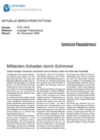 """Pressebericht """"Leipziger Volkszeitung"""""""